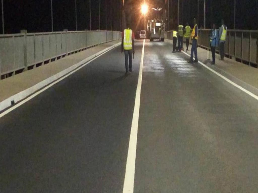Completed Asphaltech Project of Adomi Bridge Deck